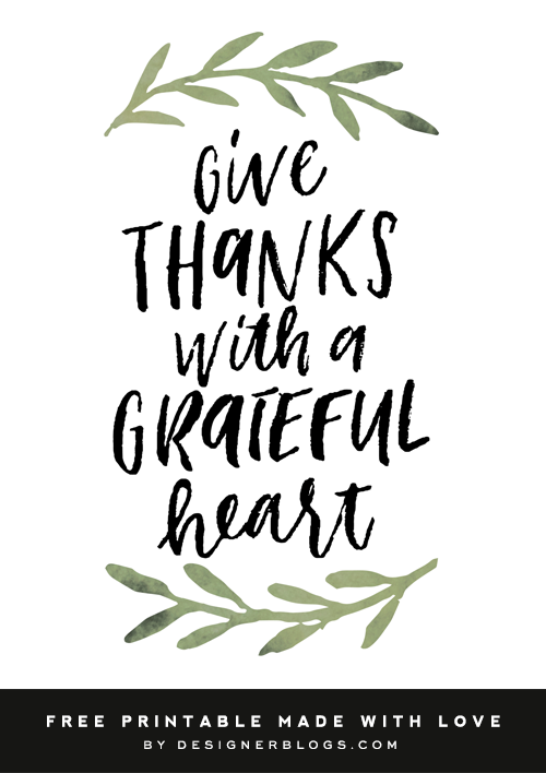 photograph relating to Give Thanks Printable identify Offer Due Absolutely free Printable - Designer Weblogs