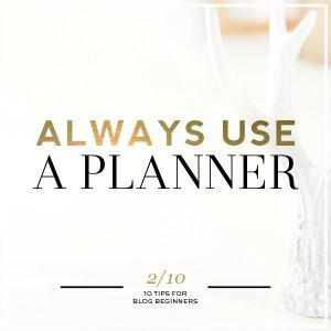 Planners save time
