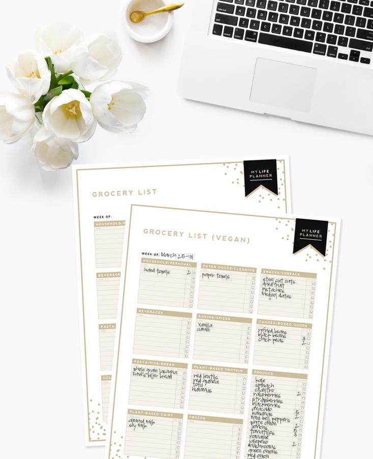 Grocery List, Vegan Grocery List | Designer Blogs