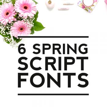 6 Spring Script Fonts