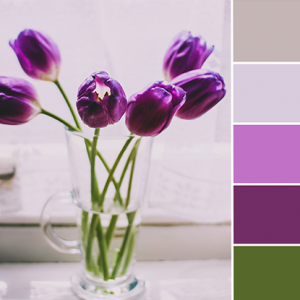 Color Love | Green, Purple & Taupe