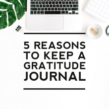 5 Benefits of Keeping a Gratitude Journal