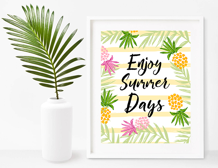 enjoy summer free printable