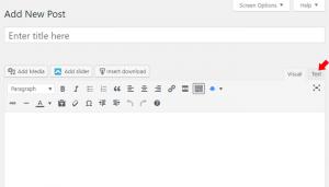 adding youtube videos to wordpress - step 3