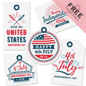 4th of July Gift Tags | Free Printable
