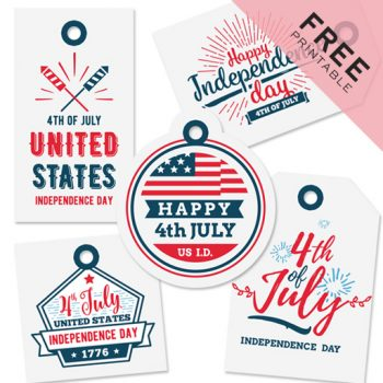 4th of July Gift Tags   Free Printable