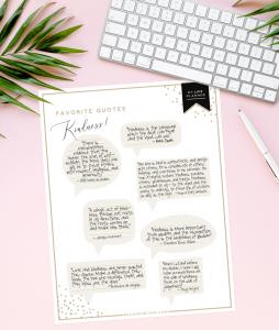 favorite quotes recorder - my life planner - DesignerBlogs.com