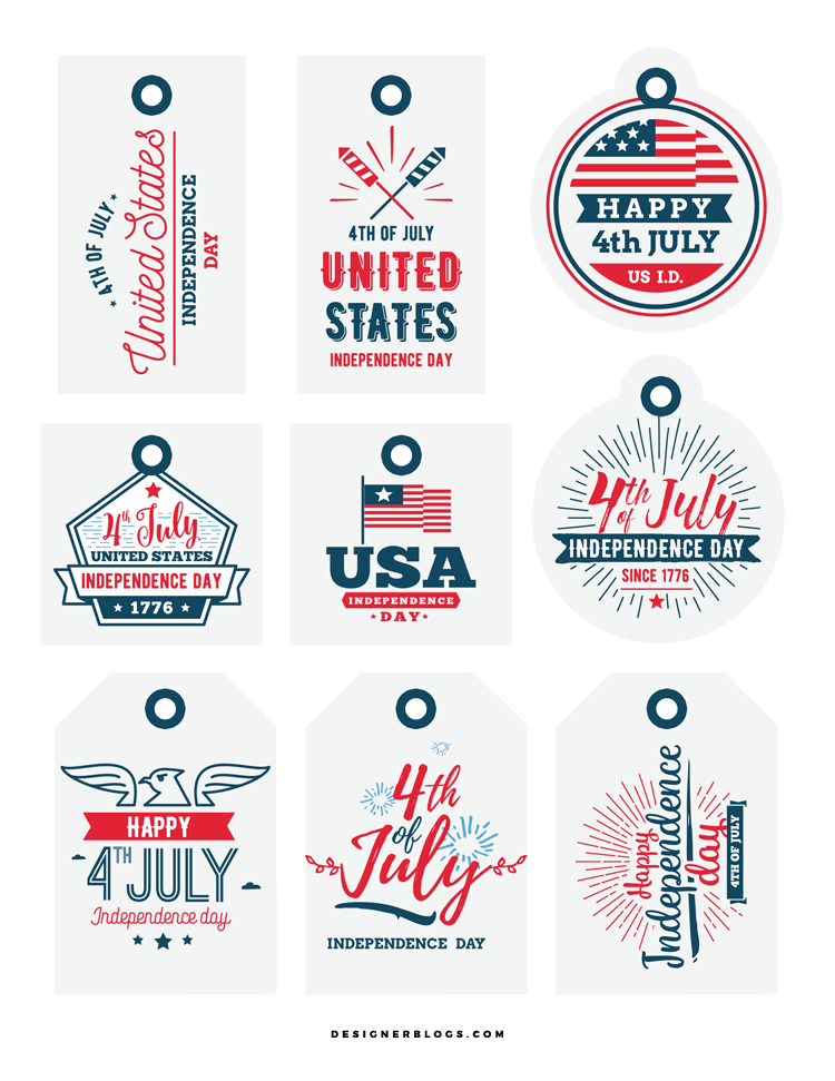 Preview of the free printable gift tags