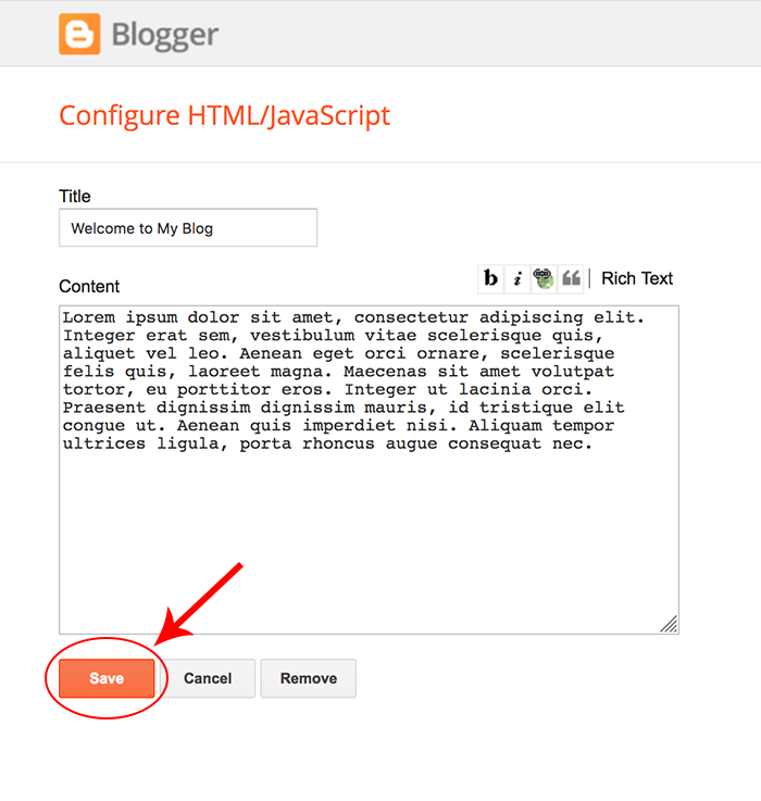 How to Add a Sticky Welcome Post to a Blogger Blog