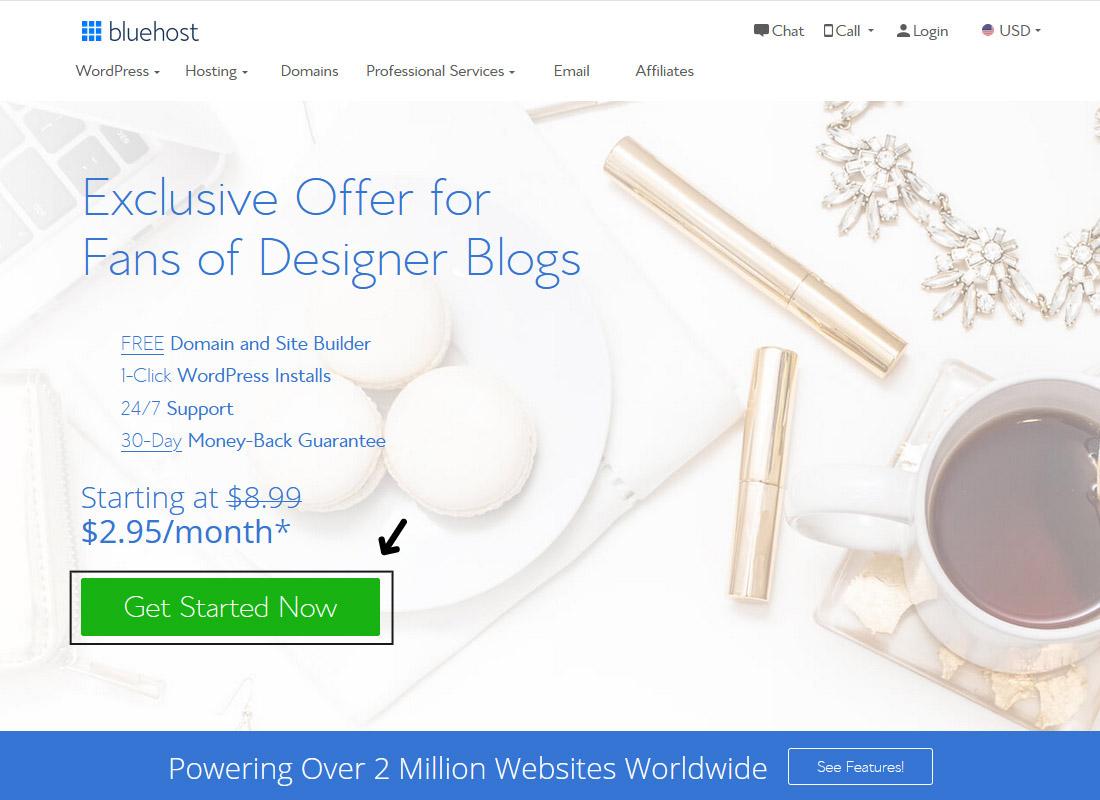 Bluehost Exclusive Designer Blogs Offer - Designer Blogs