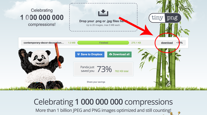Using TinyPNG to compress images - Designer Blogs