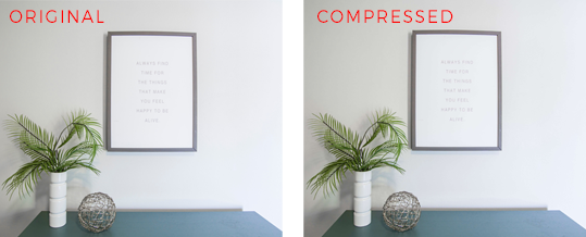 Compressing image to speed up blog - Designer Blogs