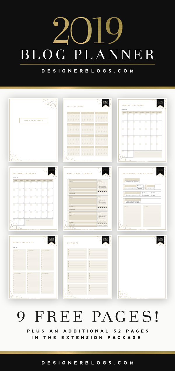 Ultimate Blog Planner Free Printable Designer Blogs