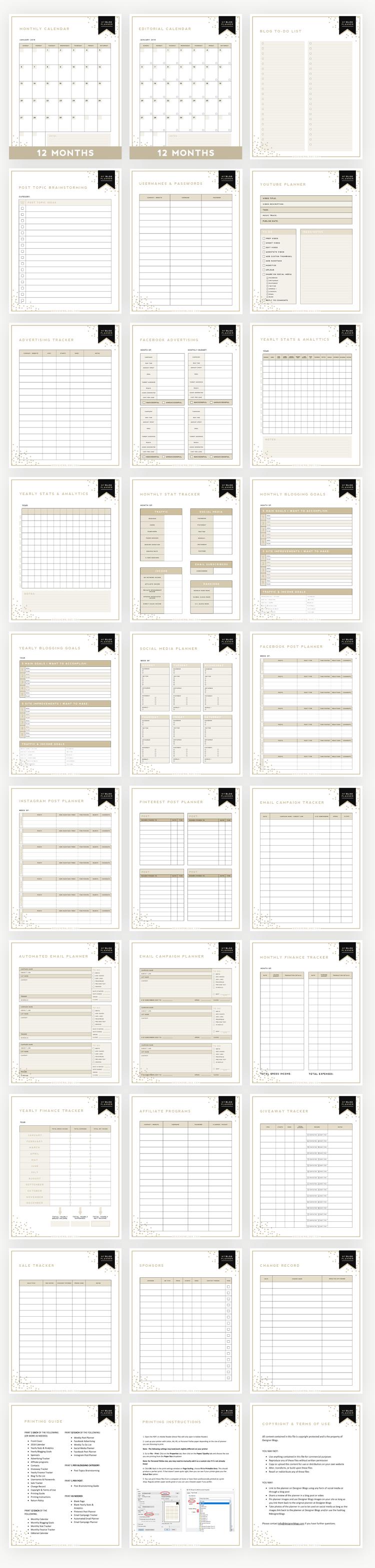 Blog Planner Extension Package - Designer Blogs