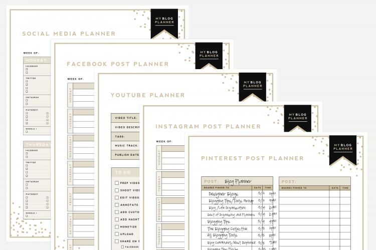 picture regarding Blog Planner Template named Greatest Website Planner Absolutely free Printable Designer Weblogs