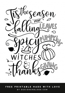 Seasonal Free Printable - Designer Blogs