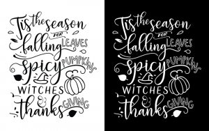 Black and White Fall Print Versions - Designer Blogs