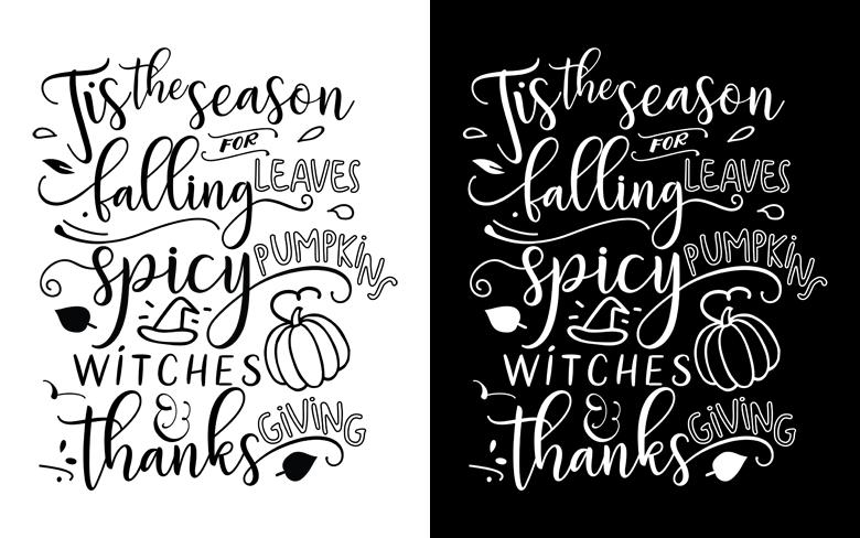 Black and White Fall Print Versions - Designer Blogs