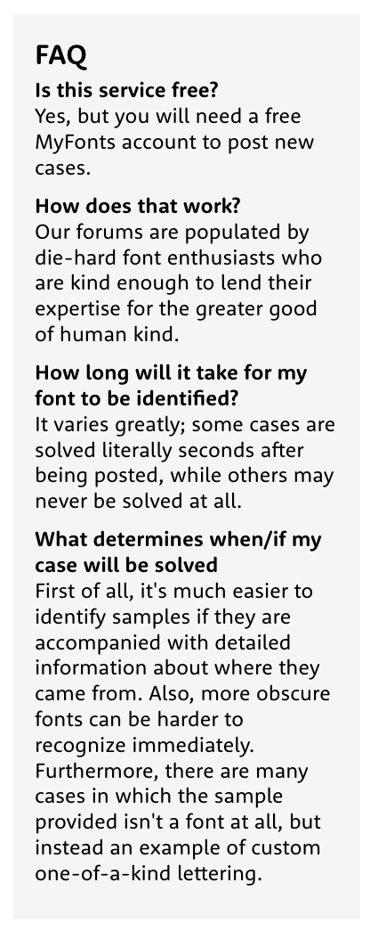 how to find the name of a font - FAQ