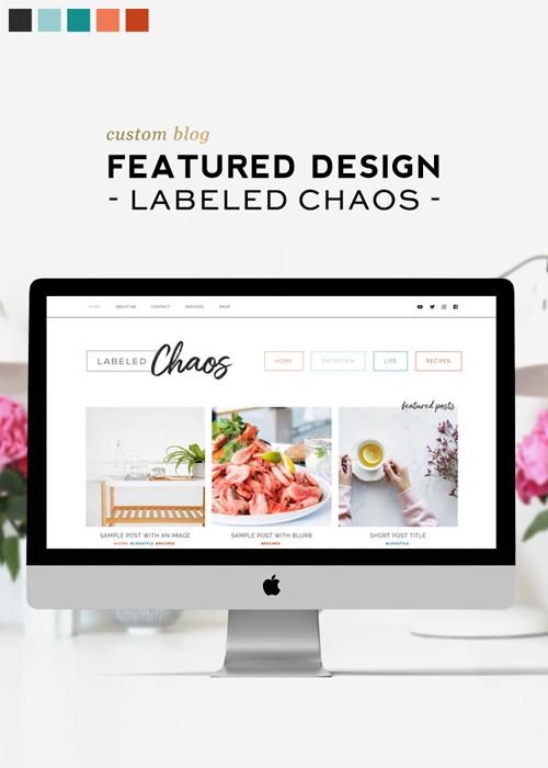 Custom WordPress blog design for Labeled Chaos