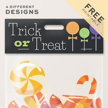 Halloween Bag Toppers   Free Printable
