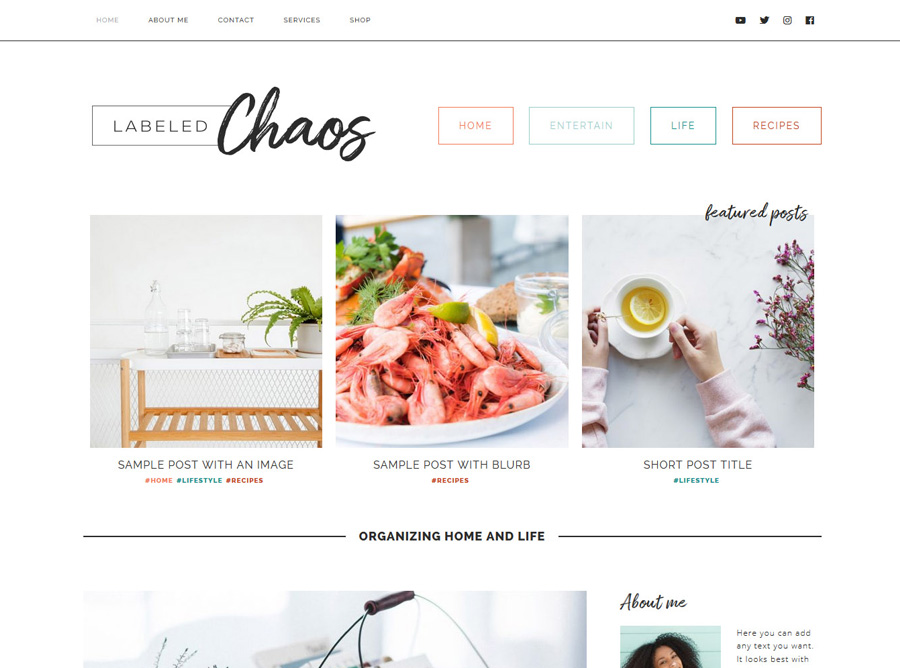 Labeled Chaos | Custom Website Design | by Kate