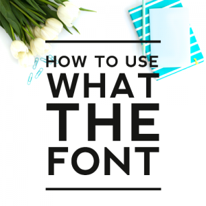 How to Use WhatTheFont
