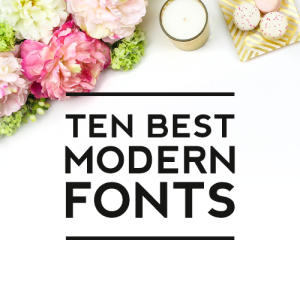 Ten Best Modern Fonts