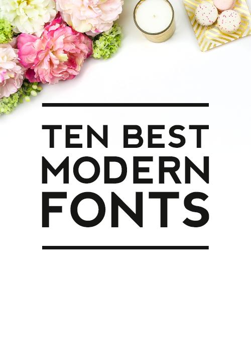 10 Best Modern Home Design Ideas Decoration: Ten Best Modern Fonts