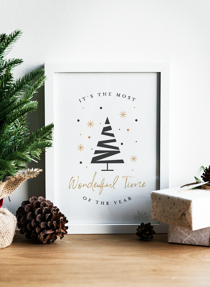 Most Wonderful Time of the Year Free Printable Christmas Poster