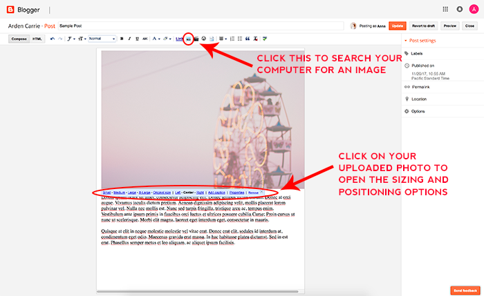How to Resize Blogger Photos Automatically
