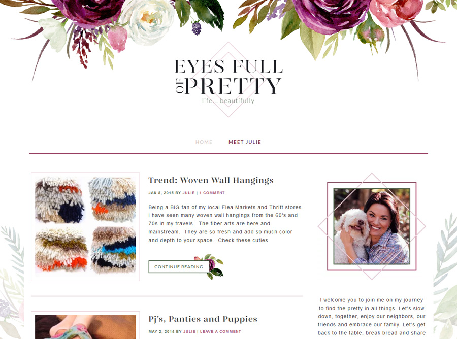 Eyes Full Of Pretty | Custom Website Design | by Kate