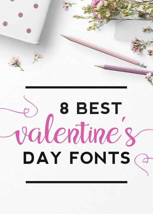 8 Best Valentine's day fonts cover photo