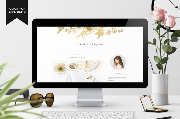 Clementine Blogger Template