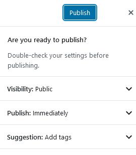 Advanced WordPress Post publish settings