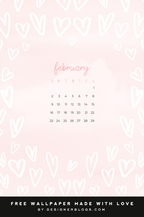 Free February Wallpaper Calendar