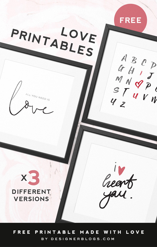 Love Printables available for Free Download post cover