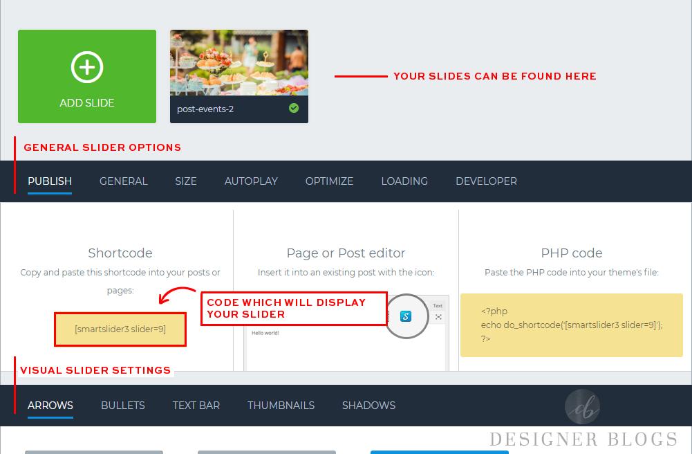 Editing your Smart Slider 3 slide