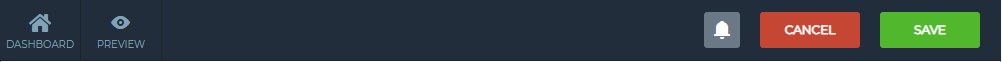 Slider settings panel