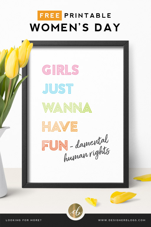Free Women's Day Printable post cover
