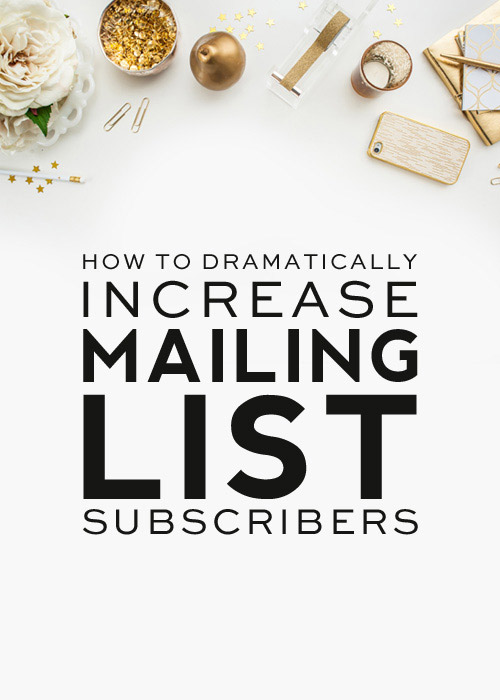 Increase Mailing List Subscribers dramaticly using mailchimp