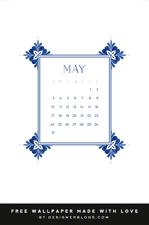 Free May Wallpaper with calendar