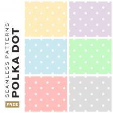 Free Seamless Polka Dot Pattern Backgrounds