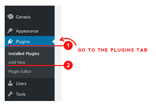 Plugins Tab in the WordPress Dashboard