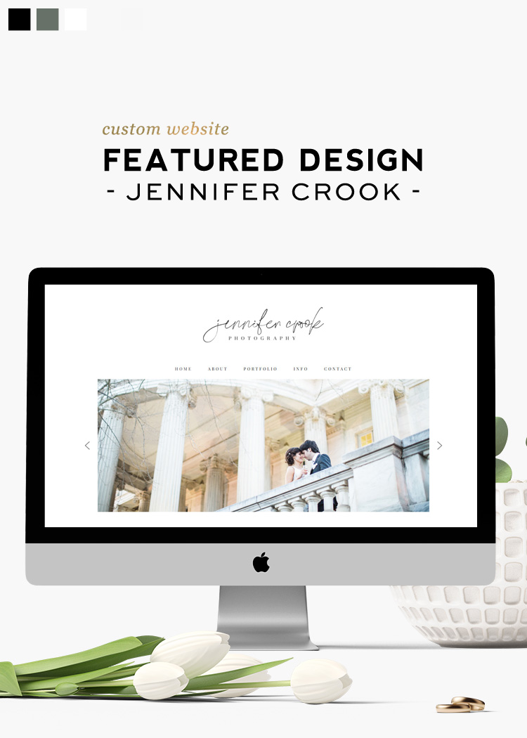 Custom Website Design Created for Jennifer Crook Photography