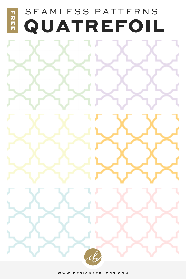 Free Seamless Quatrefoil Pattern Backgrounds avaiable in 6 colors!