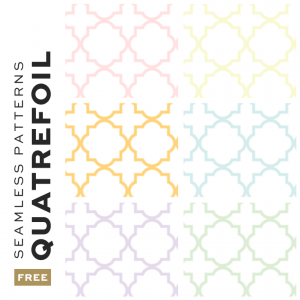 Free Seamless Quatrefoil Pattern Backgrounds