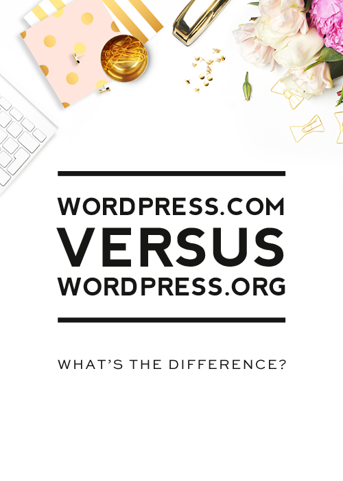 Guide to help you choose between WordPress.com vs. WordPress.org - differences, pros and cons.