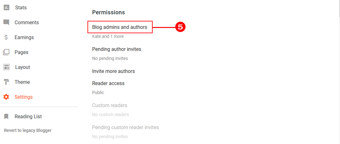 Granting Access to Blogger Blog by Setting Admin Permissions
