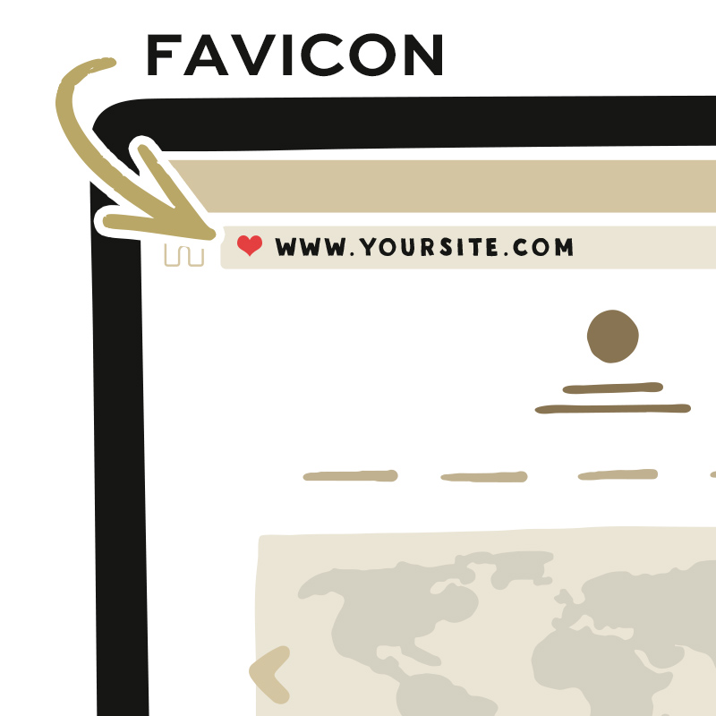 Places a custom icon next to your url in the address bar and window tab.